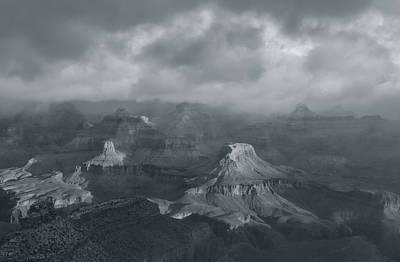 Photograph - Sunlight And The Canyon Bw by Jonathan Nguyen