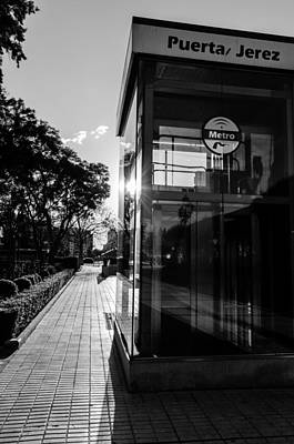Black And White Photograph - Sunlight At Puerta Jerez  by Andrea Mazzocchetti
