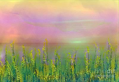 Digital Art - Sunlight At The Edge Of The Sea by Judi Bagwell