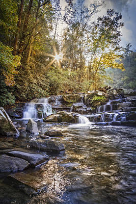 Photograph - Sunlight At The Falls by Debra and Dave Vanderlaan