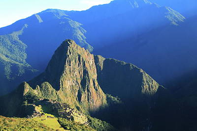 Photograph - Sunlight Beams On Machu Picchu by Roupen  Baker