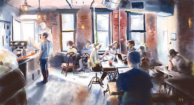 Painting - Sunlight Cafe by Hugh Chapman