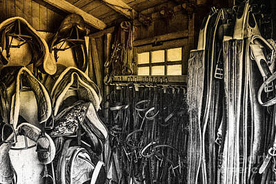 Photograph - Sunlight Horse Tack Room Window by Jerry Cowart