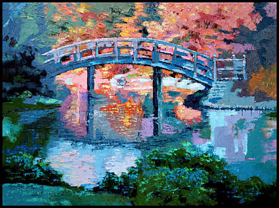Painting - Sunlight In Back Of Bridge by John Lautermilch