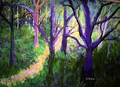 Painting - Sunlight In The Forest by Anne Sands