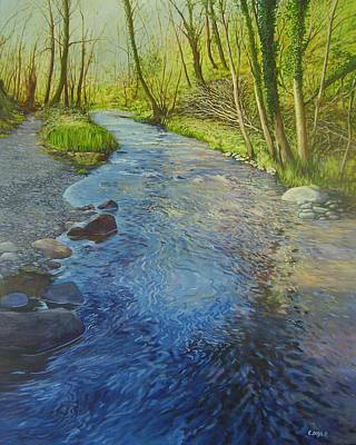 Sunlight In The Glen Art Print by Eamon Doyle