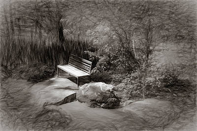 Photograph - Sunlight On Bench by James Barber