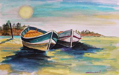 Simplicity Drawing - Sunlight On Flat Water by John Williams