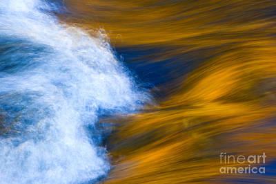 Sunlight On Flowing River Art Print by Bill Brennan - Printscapes