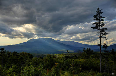 Photograph - Sunlight On Katahdin by John Meader