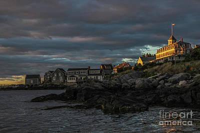 Beach Photograph - Sunlight On Monhegan's Island Inn by Joe Faragalli