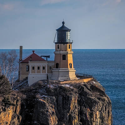 Sunlight On Split Rock Lighthouse Art Print by Paul Freidlund