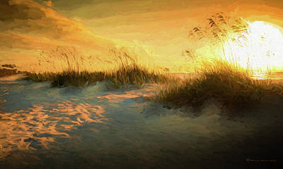 Shores Digital Art - Sunlight On The Dunes by Marvin Spates