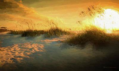 Coastal Landscape Digital Art - Sunlight On The Dunes by Marvin Spates