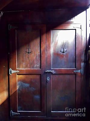 Photograph - Sunlight On The Gun Deck Doors by D Hackett