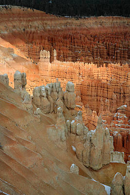 Sunlight On The Hoodoos In Bryce Canyon Art Print by Pierre Leclerc Photography