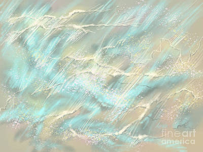 Art Print featuring the digital art Sunlight On Water by Amyla Silverflame