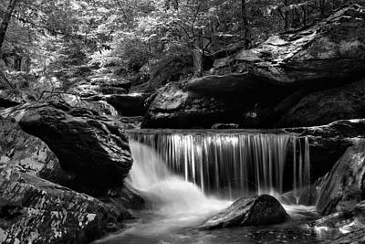 Photograph - Sunlight On Waterfall by Greg Mimbs