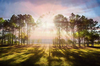 Photograph - Sunlight Over The Lakeside Park by Debra and Dave Vanderlaan