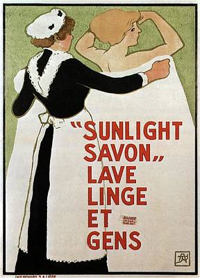 Royalty-Free and Rights-Managed Images - Sunlight Savon - Washing Soap - Vintage Soap Advertising Poster by Studio Grafiikka
