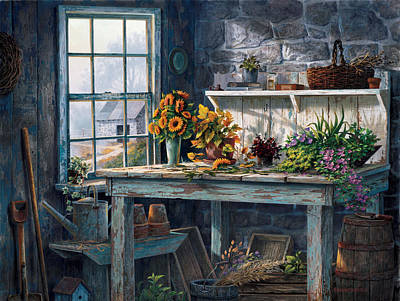 Shed Painting - Sunlight Suite by Michael Humphries