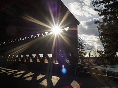 Photograph - Sunlight Through Sachs Covered Bridge  by Marianne Campolongo