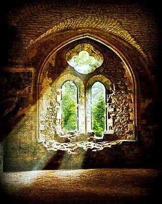 Sunlight Through The Ruins Art Print
