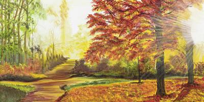 Sunlight Trail Original by Donna Mann