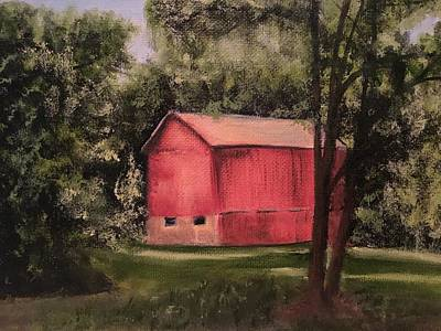 Painting - Sunlit Barn by Sharon Schultz