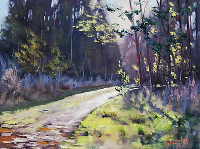 Corner Painting - Sunlit Bend At Sunny Corner by Graham Gercken