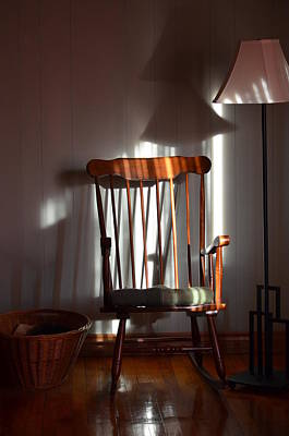Photograph - Sunlit Chair by Cheryl Charette