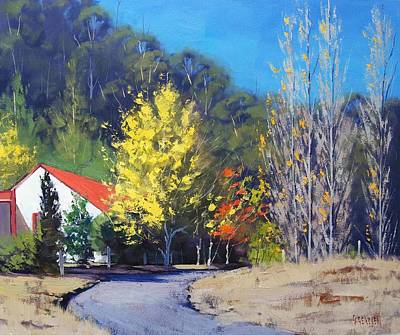 Fiery Painting - Sunlit Corner by Graham Gercken