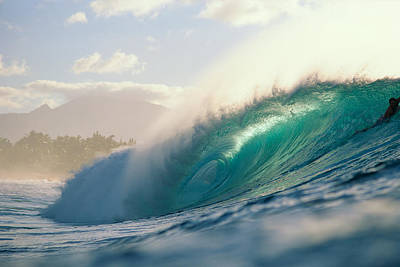 Neal Photograph - Sunlit Curling Wave by Ali ONeal - Printscapes