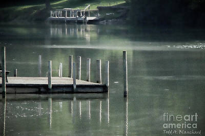 Photograph - Sunlit Dock by Todd Blanchard