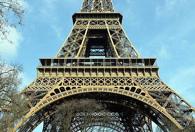 Photograph - Sunlit Eiffel Tower First And Second Floors Paris France by Shawn O'Brien