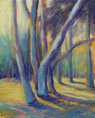 Painting - Sunlit Eucalyptus by Konnie Kim