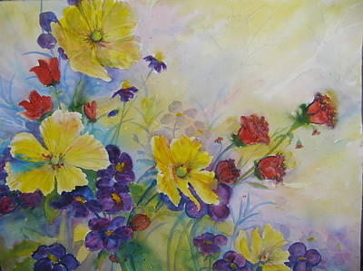 Painting - Sunlit Floral by Laurie Salmela