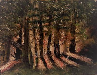 Painting - Sunlit Forest by Stephen King