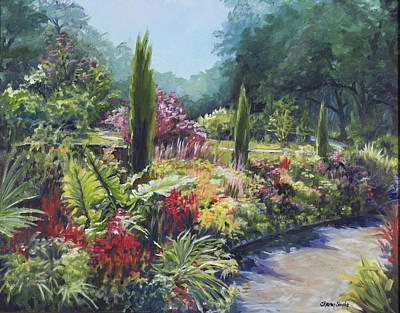 Painting - Sunlit Garden by Sharon Sorrels