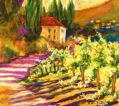 Painting - Sunlit Grapevines  Sold by Therese Fowler-Bailey