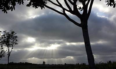 Photograph - Sunlit Gray Clouds At Otay Ranch by Karen J Shine