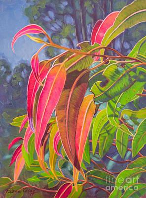 Sunlit Gumleaves 9 Original by Fiona Craig