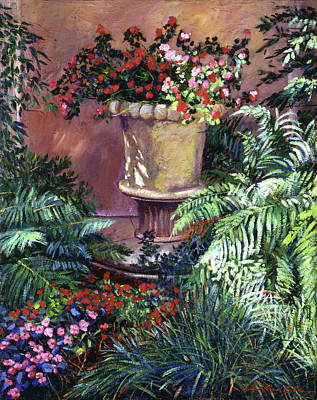 Painting - Sunlit Impatiens by David Lloyd Glover