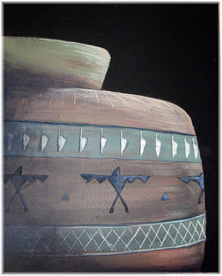 Sunlit Indian Pottery Art Print by Kenneth McGarity