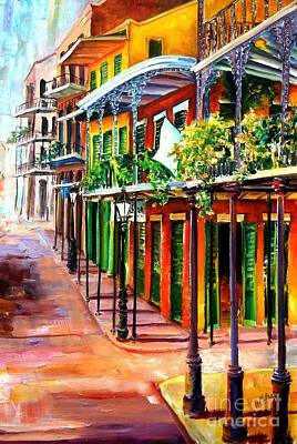 New Orleans Oil Painting - Sunlit New Orleans by Diane Millsap