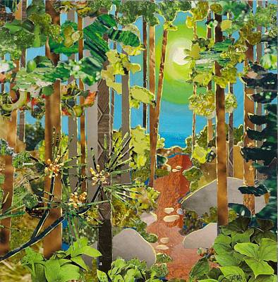 Mixed Media - Sunlit Path by Robin Birrell