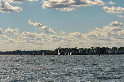 Photograph - Sunlit Sailboats Norwalk Connecticut From The Water by Marianne Campolongo