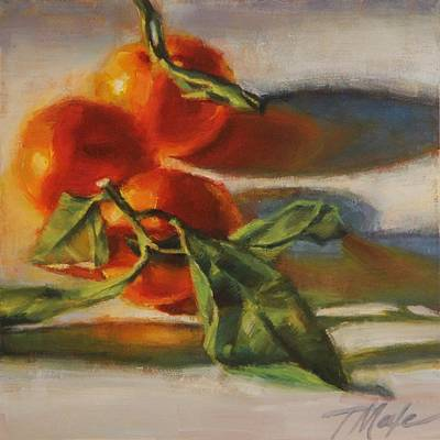 Painting - Sunlit Satsumas by Tracy Male