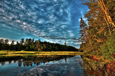 Mountainmen Photograph - Sunlit Shore Of The Moose River by David Patterson