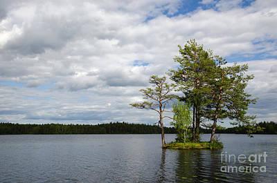 Photograph - Sunlit Small Island by Kennerth and Birgitta Kullman